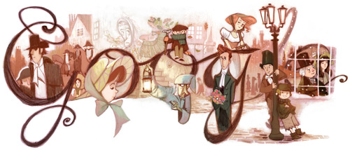 "Google'dan ""Happy Birthday Dickens"""