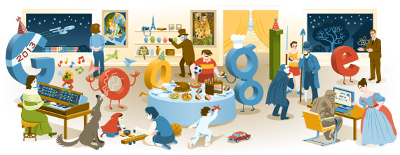 2012 Yılbaşı Gecesi Google Doodle logosu