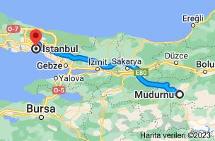 Mudurnu, 14800 Mudurnu/Bolu - İstanbul güzergahının haritası