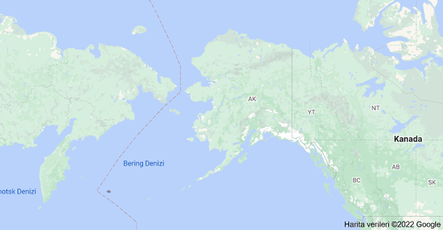 Alaska, Birleşik Devletler haritası