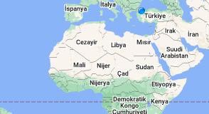 Kuzey Afrika haritası
